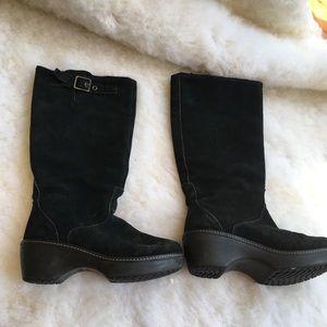 Croc chunky boots
